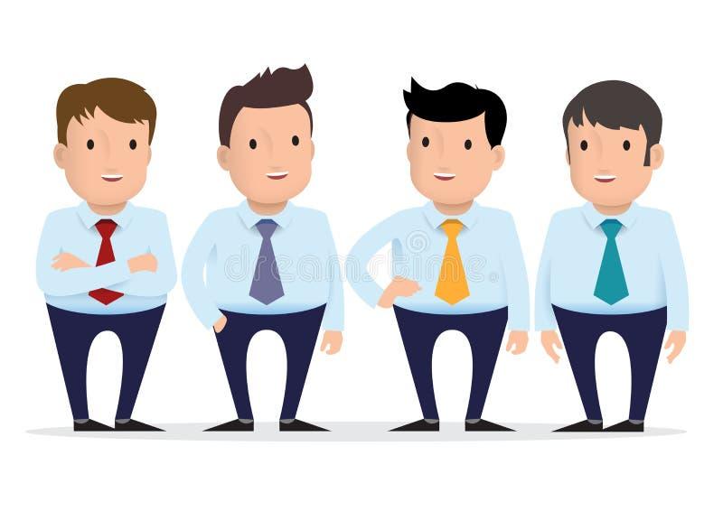 Группа в составе парни в различных одеждах иллюстрация вектора