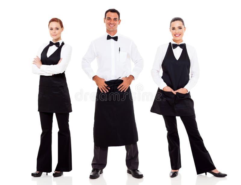 Кельнер и официантка стоковые фотографии rf
