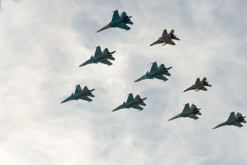 Группа в составе самолеты стоковые изображения