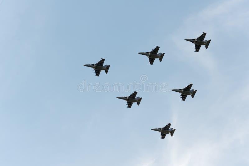 Группа в составе самолеты стоковые фотографии rf