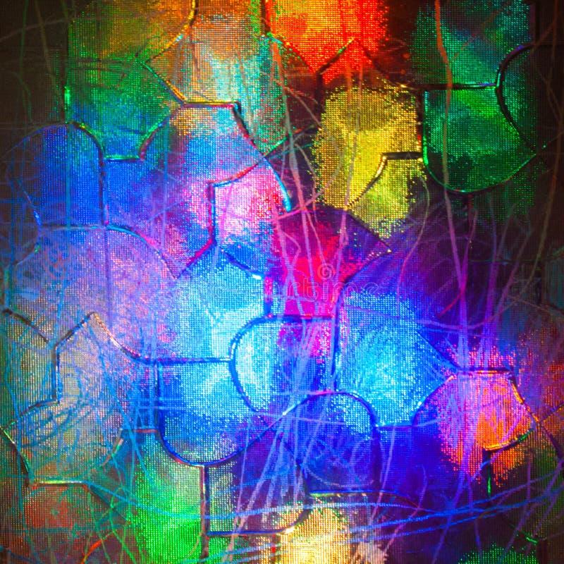 Группа в составе света видима через рефрагированное стекло стоковое изображение rf