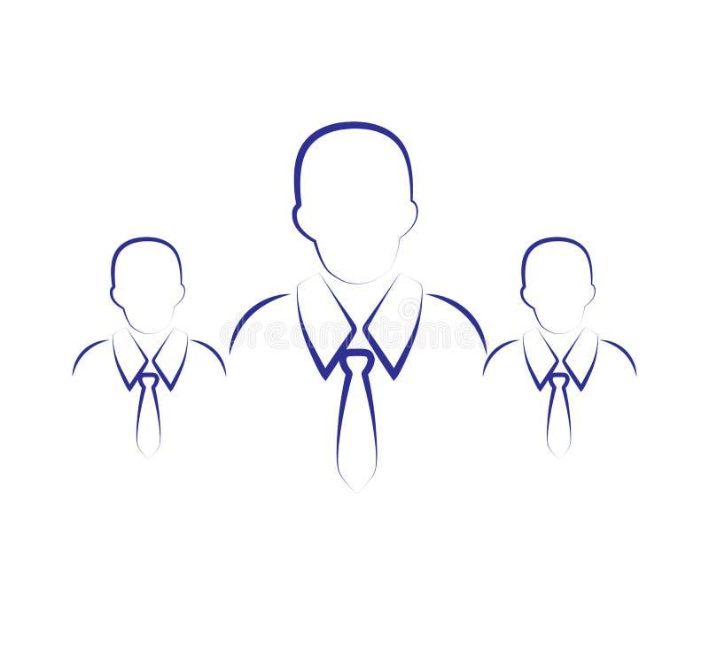 Группа в составе символ вектора значка 3 людей бесплатная иллюстрация