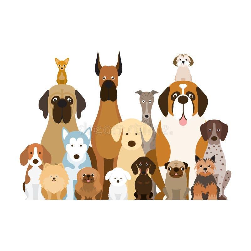 Группа в составе собака разводит иллюстрацию иллюстрация штока