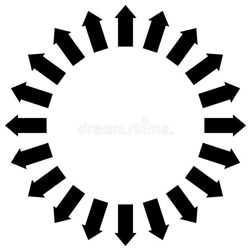 Группа в составе стрелки следовать кругом указывая наружу иллюстрация штока