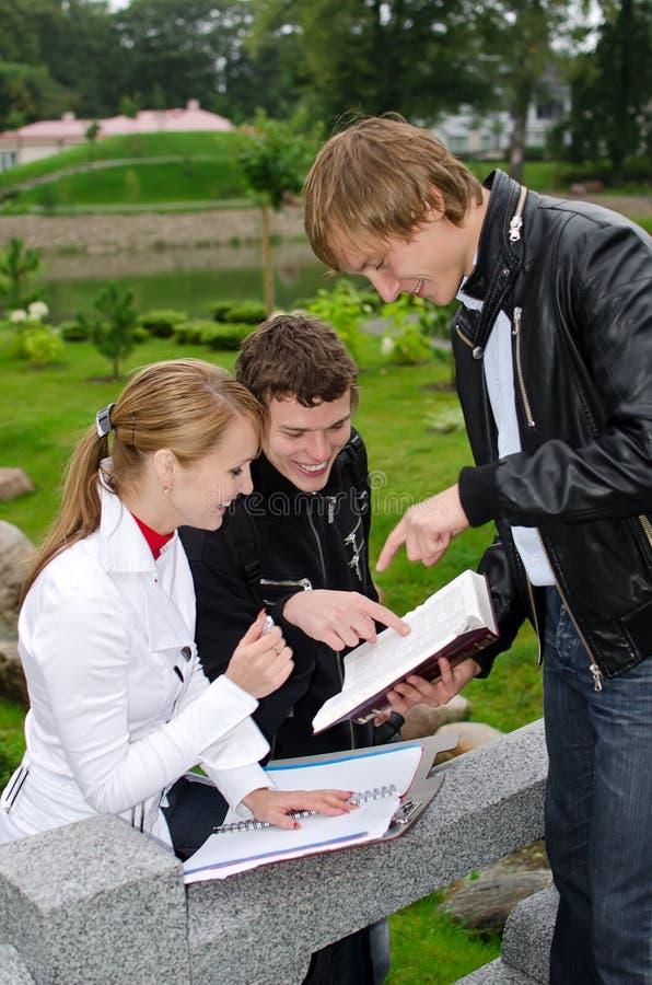 Группа в составе студенты стоковые фотографии rf