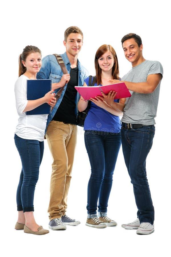Группа в составе студенты колледжа стоковое изображение