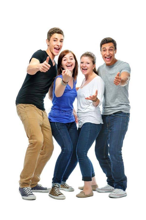 Группа в составе студенты колледжа стоковое изображение rf