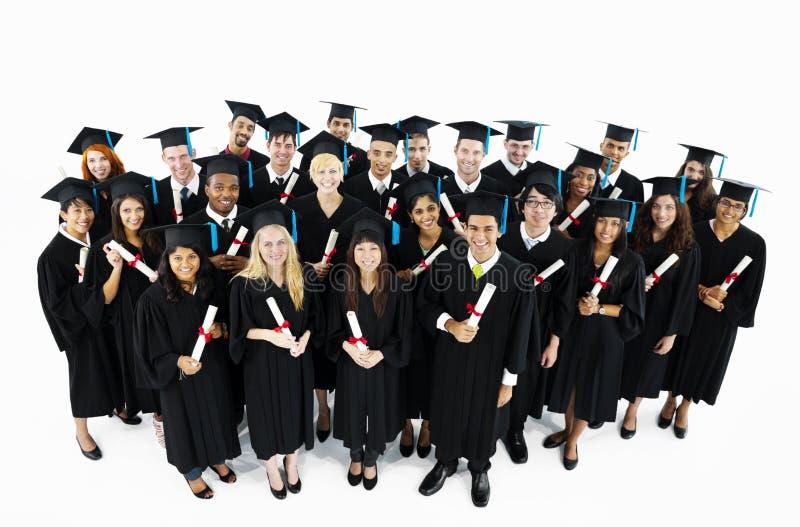 Группа в составе студенты мира градуированные стоковое фото