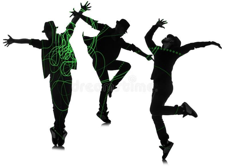 Группа в составе танцор в танцевать абстрактная концепция стоковое фото