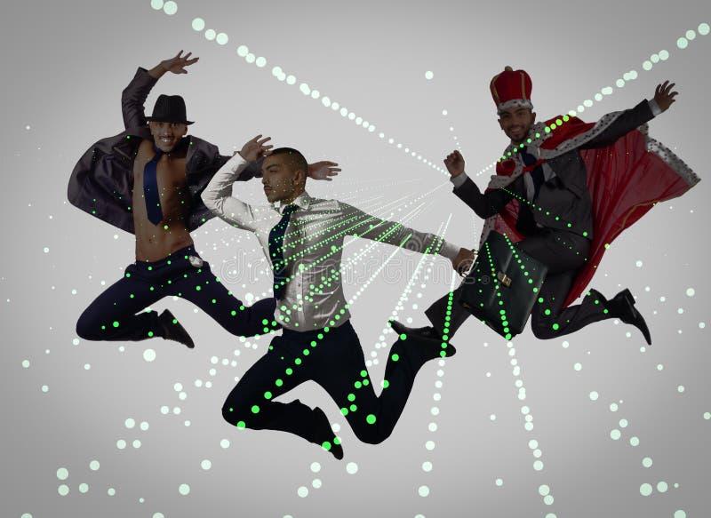 Группа в составе танцор в танцевать абстрактная концепция стоковые изображения rf