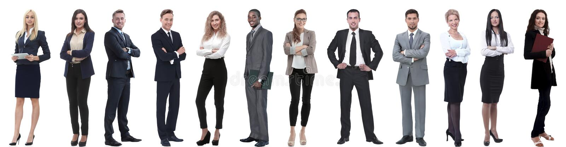 Группа в составе успешные бизнесмены изолированные на белизне стоковое фото rf