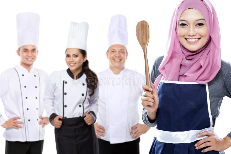 Группа в составе шеф-повар стоковое изображение rf