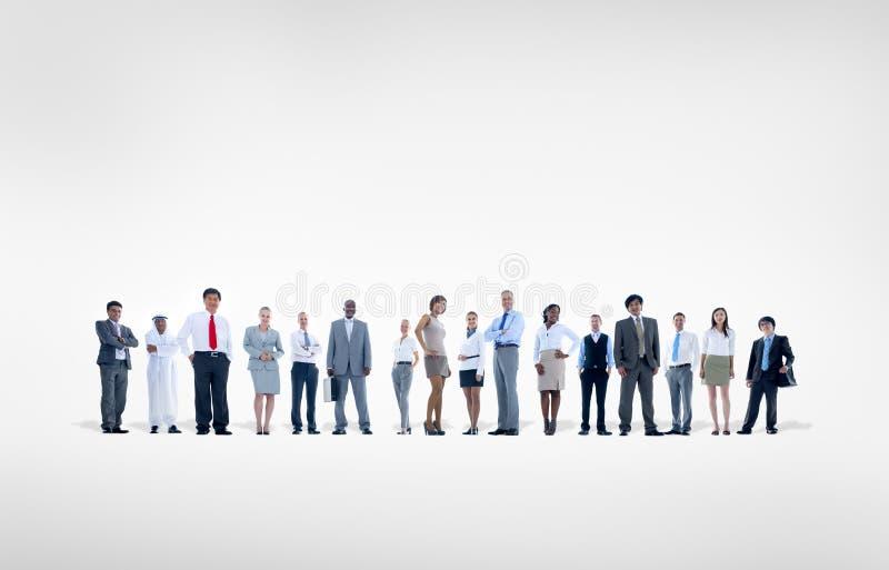 Группа в составе люди мирового бизнеса на белой предпосылке стоковое фото rf
