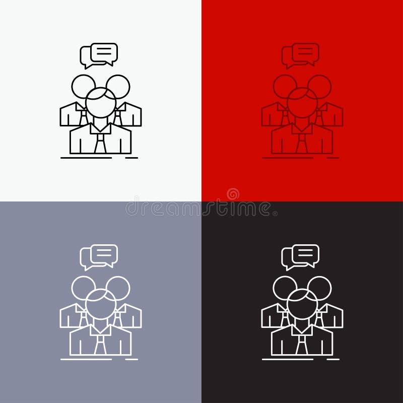 группа, дело, встреча, люди, значок команды над различной предпосылкой r r бесплатная иллюстрация