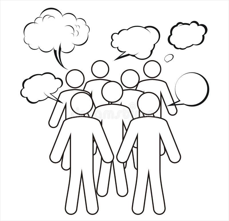 группа для обсуждения имея бесплатная иллюстрация