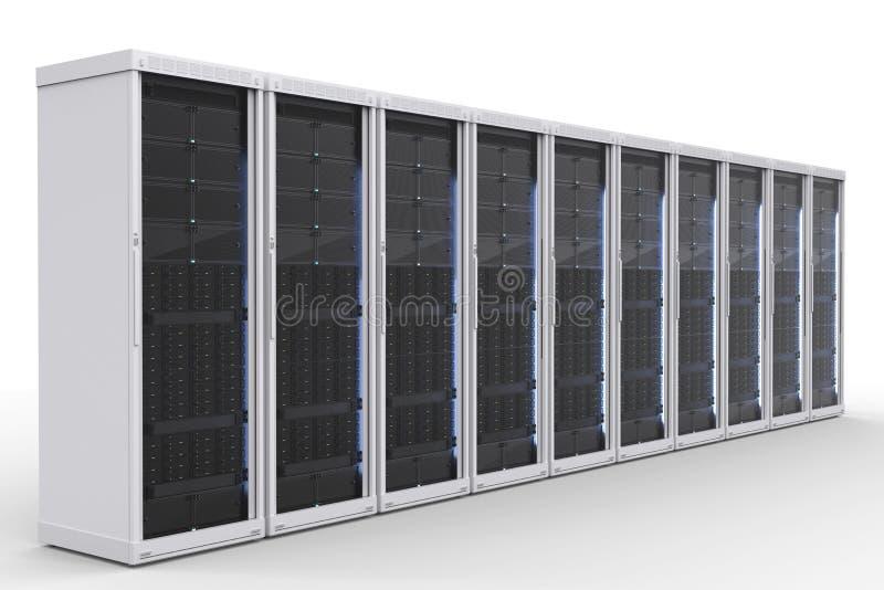 Группа компьютер-сервера стоковая фотография