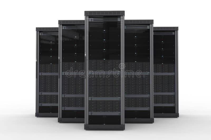 Группа компьютер-сервера бесплатная иллюстрация