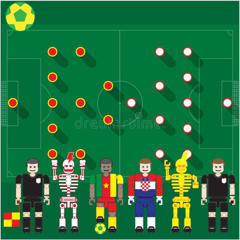 Download Группа кубка мира кулачок против Cro Иллюстрация вектора - иллюстрации насчитывающей нога, играть: 40582916