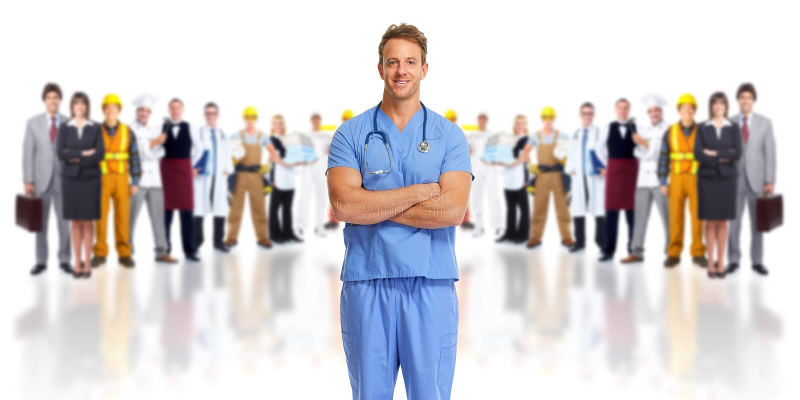 Группа доктора и людей стоковые изображения rf