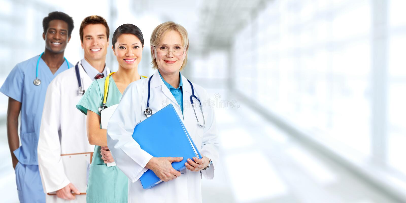Группа докторов стоковые изображения