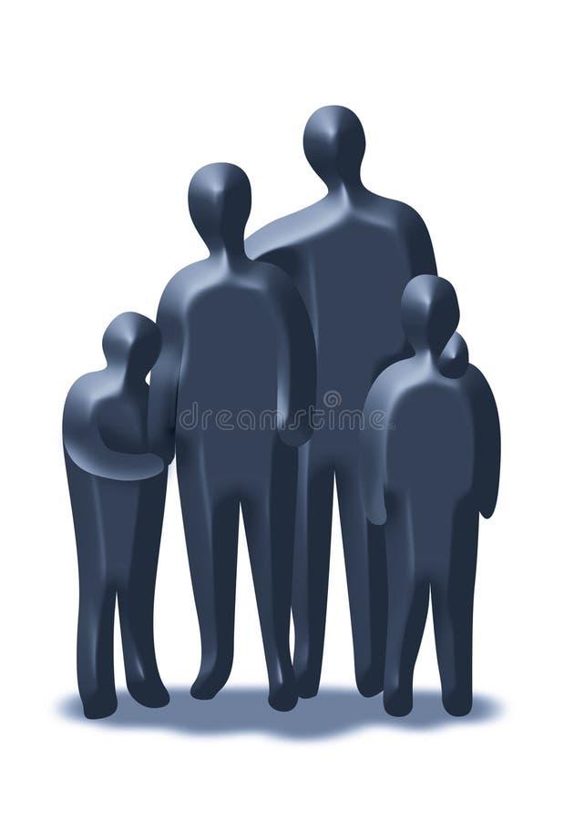 группа семьи иллюстрация штока