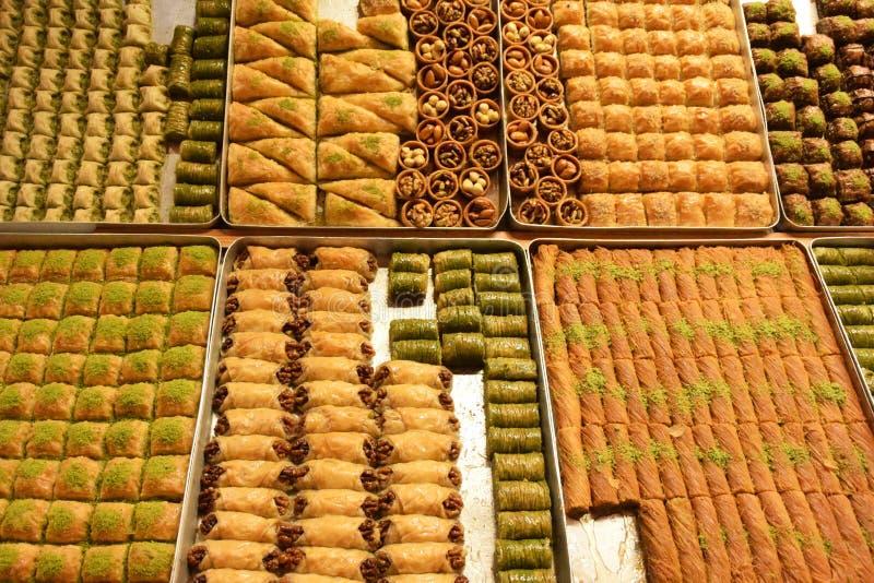 Группа турецкого десерта стоковые изображения