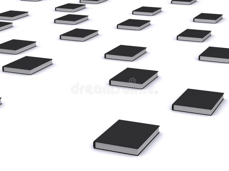 группа черных книг иллюстрация вектора