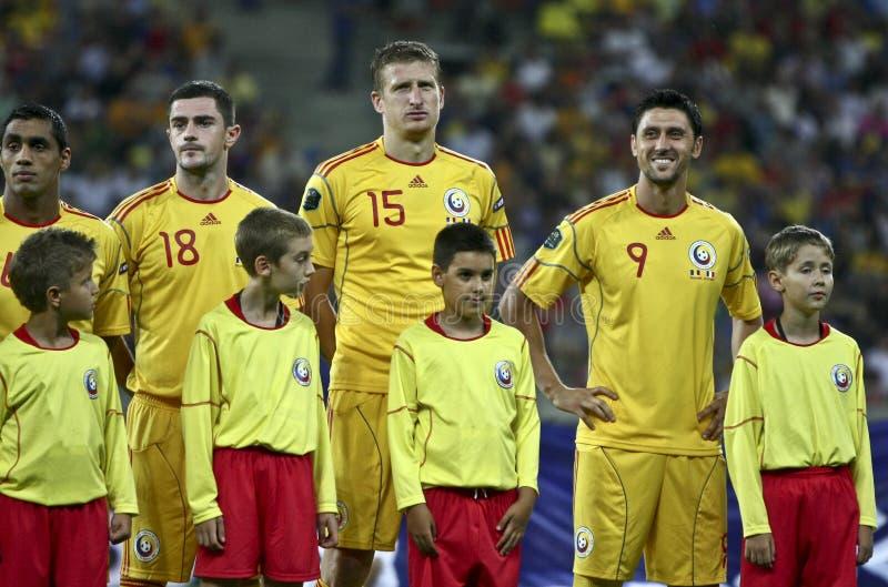 группа 2012 Франции евро d квалифицируя Румынию круглую стоковое фото