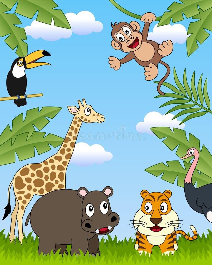 группа 3 африканская животных иллюстрация штока
