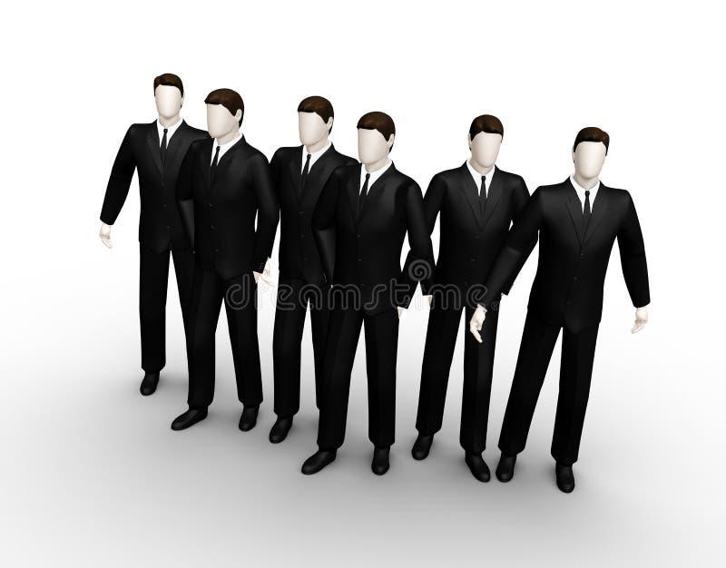 группа 6 бизнесмена стоковые изображения rf