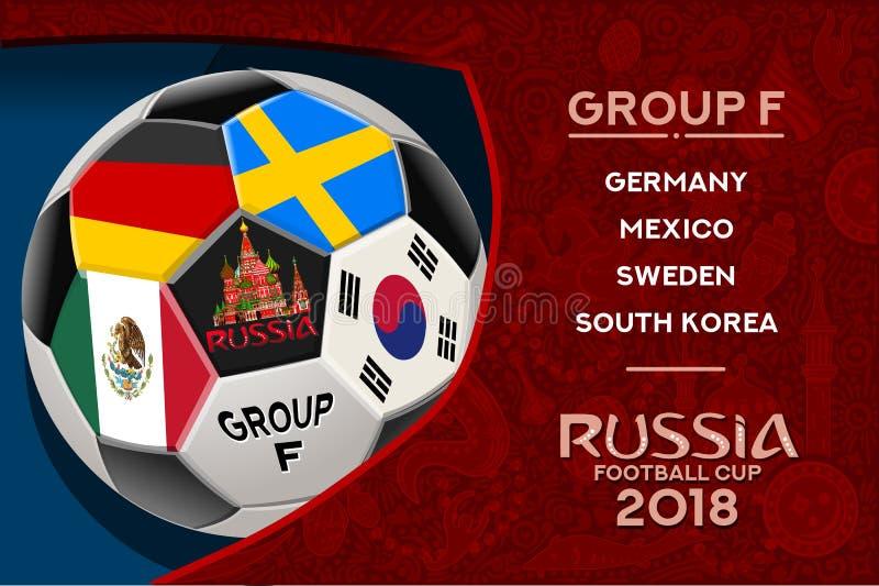 Группа f дизайна кубка мира России иллюстрация штока