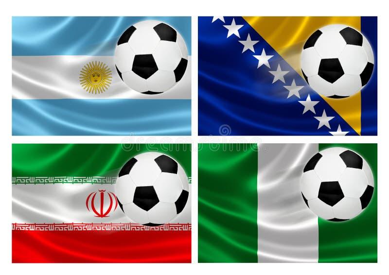 Группа f кубка мира 2014 Бразилии иллюстрация вектора