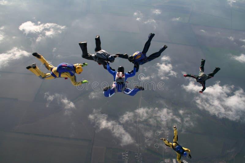 Группа Skydiving стоковая фотография