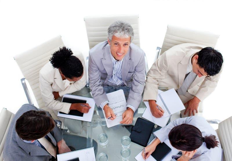 групповая встреча дела разнообразная стоковое изображение