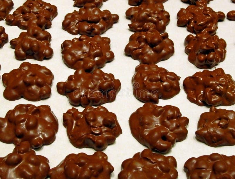 Группы арахиса шоколада стоковая фотография rf