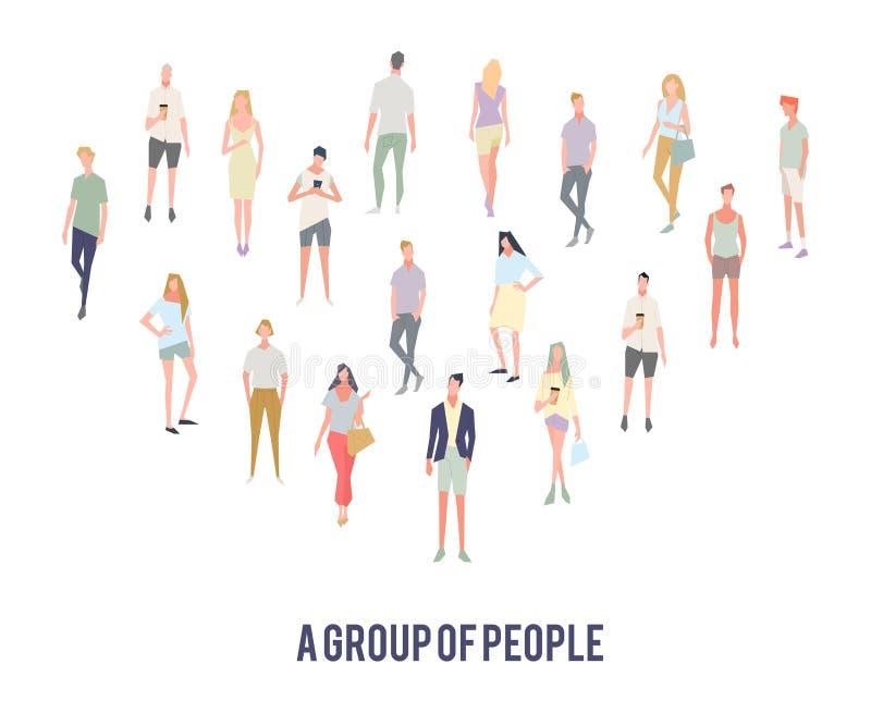 Группы бизнесмены связи болтовни Предприниматели обсуждая сеть связи социальную иллюстрация вектора
