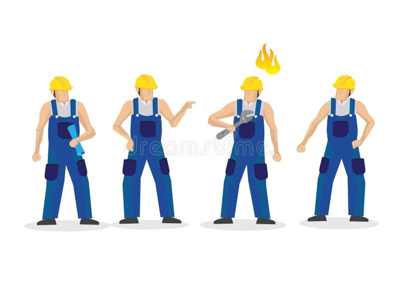 2 группы в составе мужские рабочий-строители воюя и враждуя r бесплатная иллюстрация