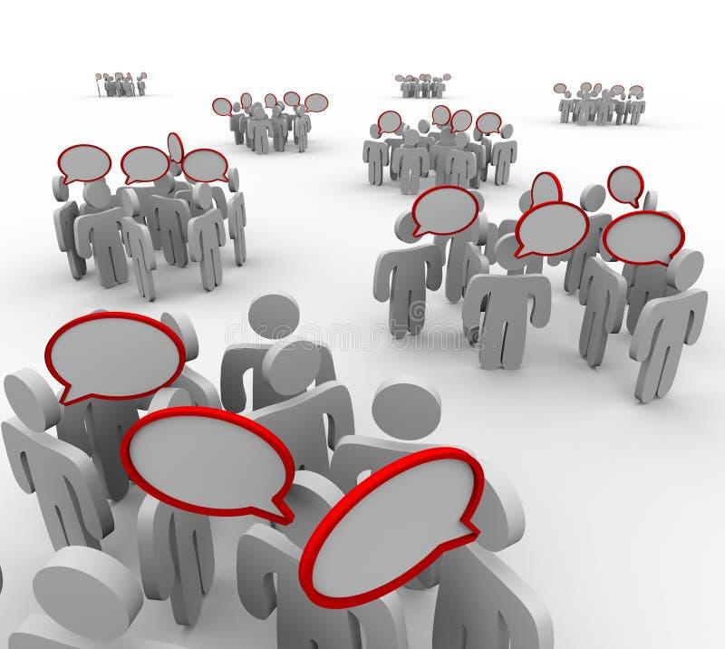 Группы говоря переговоры речи иллюстрация вектора