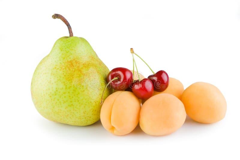 груша вишни абрикоса стоковая фотография