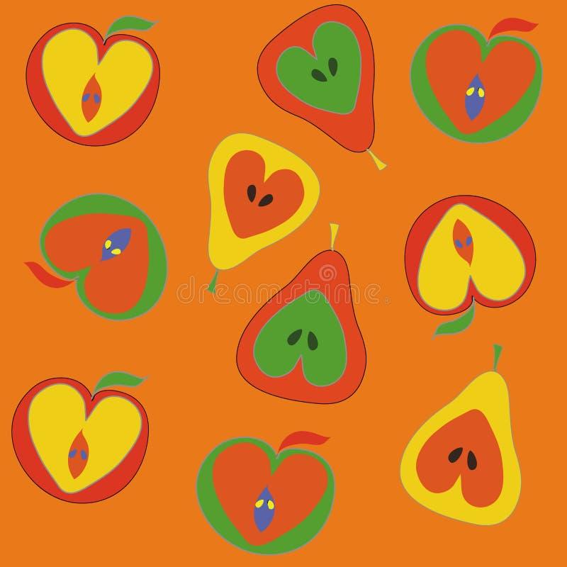груши картины яблок безшовные бесплатная иллюстрация