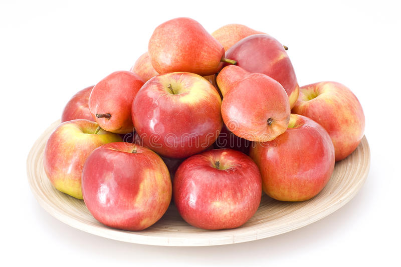 груши яблок красные стоковое изображение