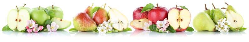 Груши яблок собрания Яблока и груши приносить отрезанное isola плодоовощей стоковые фото