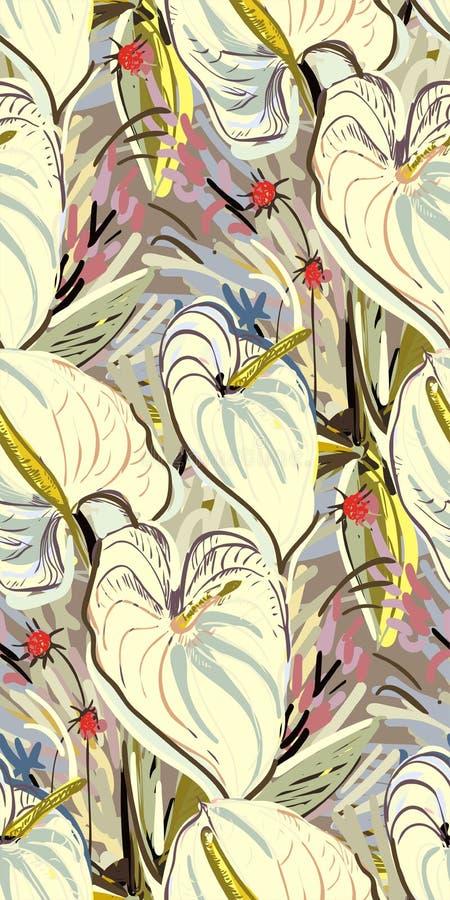 Грязная картина краски цветка сада текстурировала бесплатная иллюстрация