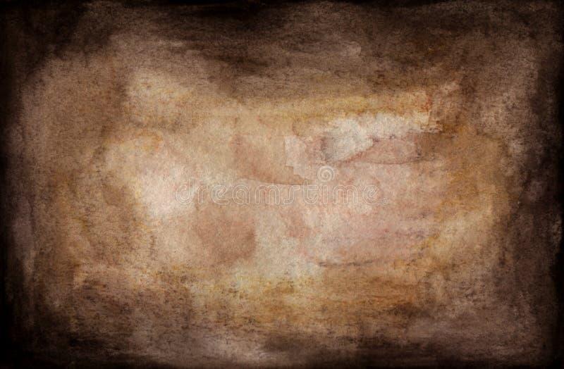 Грязная предпосылка, старая бумага текстуры предпосылки grunge Абстрактная предпосылка текстуры акварели иллюстрация вектора