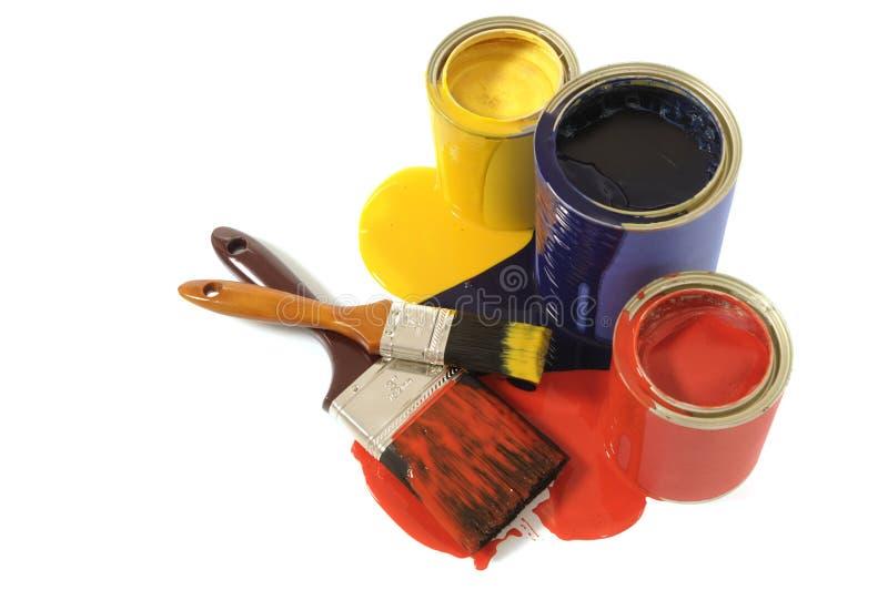 Грязные олов краски стоковые фотографии rf