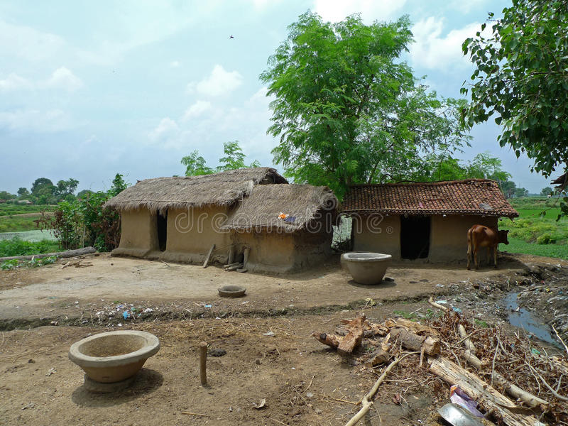 грязь Индии дома gaya сельской местности bodh стоковые изображения rf