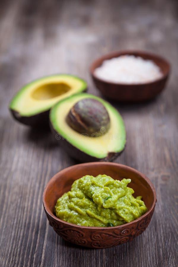 Гуакамоле с авокадоом стоковое изображение