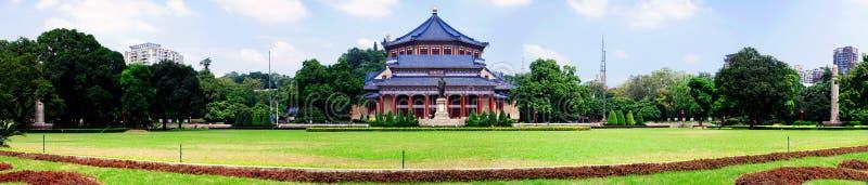 Гуанчжоу, Китай, зала Сунь Ятсен мемориальная (panoramagram) стоковая фотография rf
