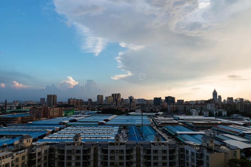 Гуанчжоу солнечно после дождя стоковые фотографии rf