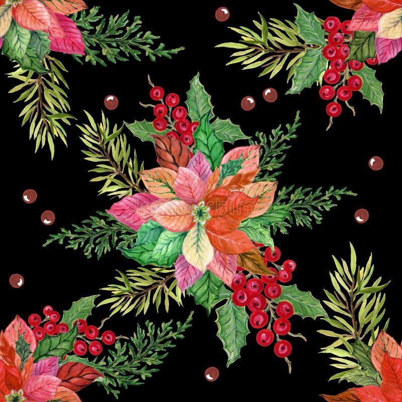 Гуаши акварели руки картина праздника вычерченной безшовная с diff иллюстрация штока